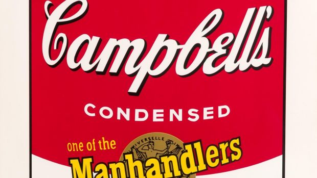 Andy Warhol soup can at Morgan O'Driscoll