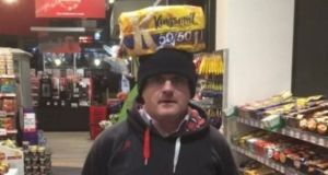 Former Sinn Fein MP Barry McElduff quit after posing with a Kingsmill-branded loaf on his head on the anniversary of the Kingsmill massacre. File photograph: Twitter.