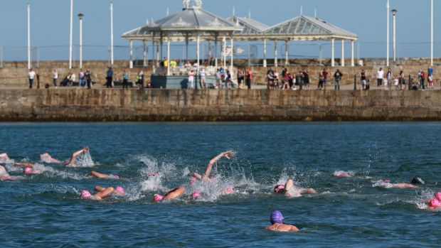"""Sighting"" in open water is another challenge that pool swimming can ever prepare you for. Photograph: Nick Bradshaw/The Irish Times/File photo"