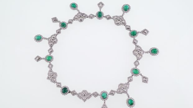 Emerald and diamond necklace (Lot 167, €80,000–€120,000)