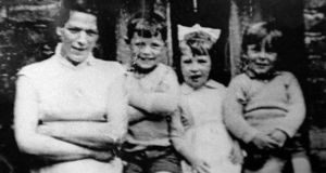 Jean McConville  with three of her children shortly before she disappeared in 1972