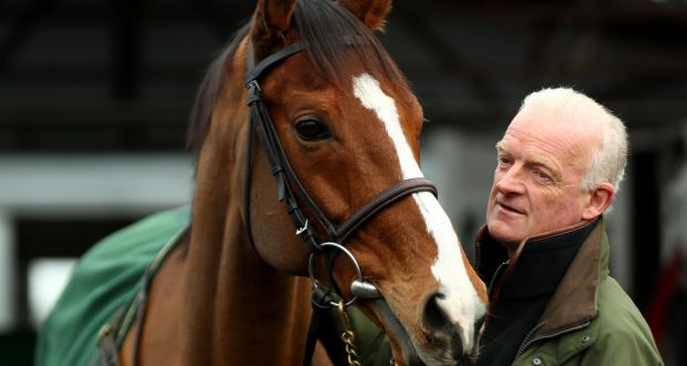 91d0ec1a1289 Willie Mullins with Faugheen at the launch of the Winter Jumps Season at  the champion trainer s