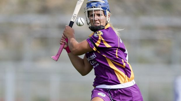 Katrina Parrock in her hurling days with Wexford. She won four All-Irelands and two All Stars during a glorious career. Photograph: Ken Sutton/Inpho