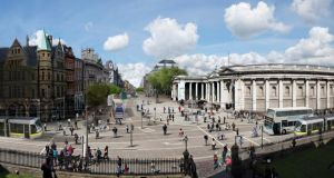 Plans for the pedestrian and cycle plaza would have seen a ban on all traffic, including buses and taxis, from accessing Dame Street through College Green