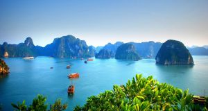 Halong Bay in Vietnam, South East Asia