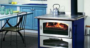 Wood-burning cooker stove
