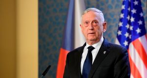 US secretary of defence James Mattis:  envisages continuing Saudi air raids on Yemen in the next 30 days. Photograph:  AFP/Getty Images
