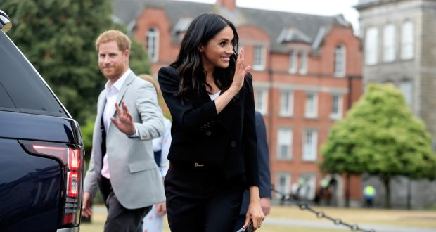 Prince Harry and Meghan Markle at Trinity College Dublin during their visit in July. Photograph: Maxwellphotography.ie
