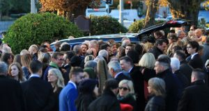Image from the funeral of John Reynolds in Donnybrook, Dublin. Photograph: Nick Bradshaw/The Irish Times
