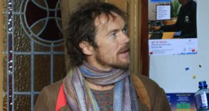 Damien Rice attends the funeral of John Reynolds in Donnybrook, Dublin. Photograph: Nick Bradshaw/The Irish Times