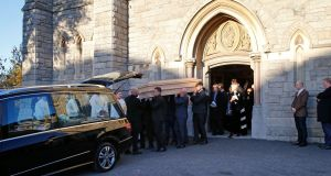 The funeral of John Reynolds in Donnybrook, Dublin. Photograph: Nick Bradshaw/The Irish Times