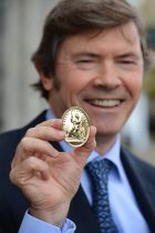 Owen Killian  with the RDS Gold Medal which was awarded by the resident of the RDS in October, 2014 Photograph: Cyril Byrne/The Irish Times