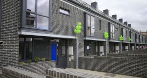 Some homes built by Ó Cualann Cohousing Alliance in Ballymun, Dublin. Photograph: Nick Bradshaw