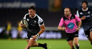 Luke Morgan: The 26-year-old Ospreys wing had a six-year career in sevens rugby, becoming Wales' record try scorer in the format. Photograph: Alex Davidson/Inpho