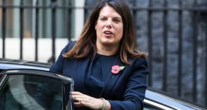 Caroline Nokes told the Home Affairs Committee that if Britain leaves the EU without a deal, employers will have to distinguish between EU citizens who arrived before Brexit day and those who came in afterwards.  Photograph: Chris Ratcliffe/Bloomberg