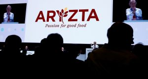 Aryzta chairman Gary McGann addresses the company's agm in Duebendorf, Switzerland, on Thursday. Photograph: Arnd Wiegmann/Reuters