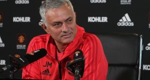 Manchester United manager José Mourinho speaks at a press conference ahead of their Premier League clash with Bournemouth. Photo: John Peters/Man Utd via Getty Images