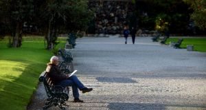 A man drawing in the late afternoon sunshine in Iveagh Gardens, Dublin. File photograph: Aidan Crawley
