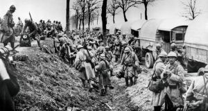French soldiers near Verdun battlefield  on which 163,000 French soldiers and 143,000 German soldiers died. Photograph: STF/AFP/Getty