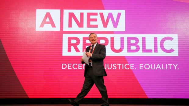 Labour leader Brendan Howlin at the annual party conference opening evening in Dublin on Friday. Photograph: Nick Bradshaw/The Irish Times