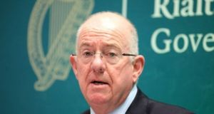 Minister for Justice Charlie Flanagan said Ireland's priorities were very much in evidence as the negotiations continued. Photograph: Garrett White/Collins Photo Agency