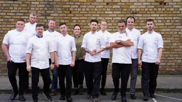 The Euro-Toques young chef 2018 finalists and judges.
