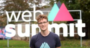 Web Summit founder Paddy Cosgrave at the company's head office in Dartry, Dublin, last month. Photograph: Dara Mac Dónaill