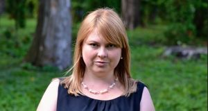 Ukrainian anti-corruption activist Kateryna Handziuk, who died on Sunday.