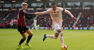 Manchester United's Chris Smalling in action during the Premier League win over Bournemouth. Photo: Getty Images