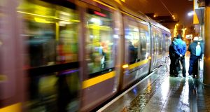 There have been 223 emergency brake incidents on the Luas involving pedestrians, an increase from 203 last year.