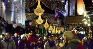 A look down Dublin's Grafton Street at Christmas. Photograph: Cyril Byrne/The Irish Times/File photo