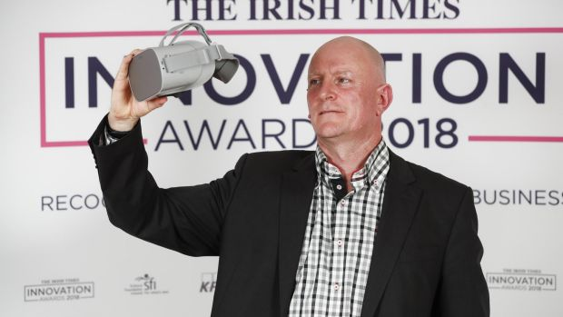 Mersus Technologies' chief executive and founder Geoff Allen at The Irish Times Innovation Awards judging day. Photograph: Conor McCabe