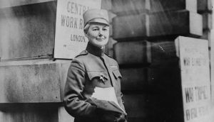 During the Serbian retreat into Albania, Flora Sandes became a soldier.