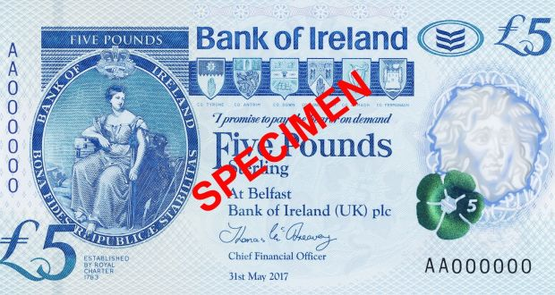 The New Polymer Notes Will Be Single Gest Change To Bank Of Ireland Banknotes