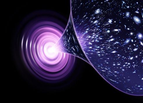 Big Bang1: A simulation of our universe, from its birth in a big bang and which is still expanding.