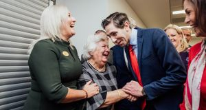 Minister for Health Simon Harris with Angela Twohey, secretary of Friends of Nenagh Hospital, at the opening of the UL Hospitals cataract centre at Nenagh Hospital. Photograph:  Brian Arthur