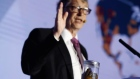 Toilet humour: Bill Gates brandishes jar of human faeces at expo