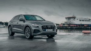 Audi Q8 50 TDI: With adaptive air suspension and all-wheel steering, it wafts along, unfazed by rutted roads.
