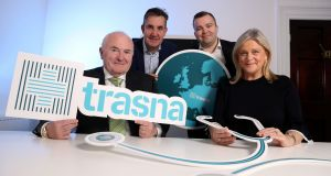 A photograph from the launch of Trasna, a new Irish healthcare company, in October. Photograph: Jason Clarke