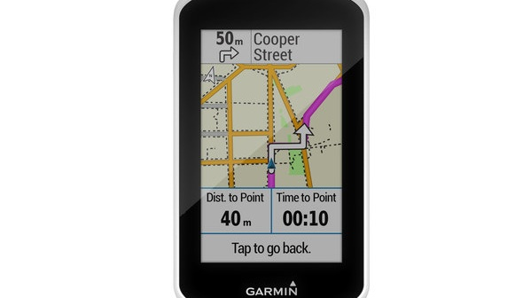 Garmin Edge tracks your progress but also allows you to find new routes through Garmin Cycle Map