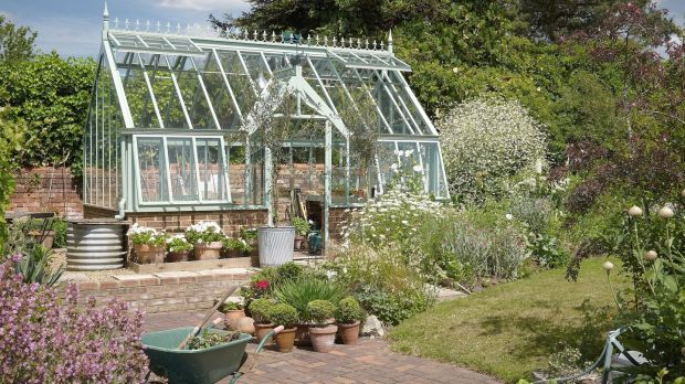 The Sage Greenhouse, a Griffin glasshouse from its Herb Garden Collection