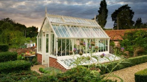 The classic Victorian-style Scotney glasshouse, one of the Alitex National Trust range