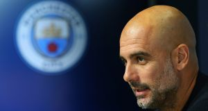 "Manchester City manager Pep Guardiola: ""My main concern at the moment is to reach the knockout stage in good condition."" Photograph:   Alex Livesey/Getty Images"