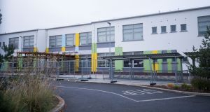 Gaelscoil Eiscir Riada, Glebe, Lucan, Co Dublin, one of the  42 schools that have undergone structural assessments in recent weeks. Photograph: Tom Honan for The Irish Times
