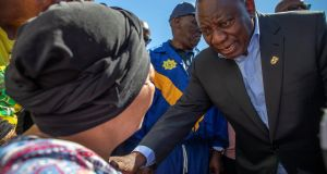 South African president Cyril Ramaphosa: after appointment, he was criticised for not immediately dealing with high-level graft. Photograph: Nic Bothma