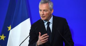 French finance minister Bruno Le Maire proposed a compromise to secure agreement for an EU-wide digital sales tax. Photograph: Eric Piermont/AFP/Getty Images