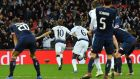 Harry Kane celebrates scoring the winner at Wembley Stadium. Photograph: Getty Images