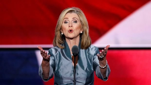 Marsha Blackburn speaks during the final day of the Republican National Convention in 2016. File photograph: Reuters