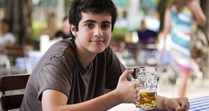 As a teenager, it is natural your son is interested in drinking, in the social life that goes with it and how to look and be cool when out with peers. Photograph: iStock