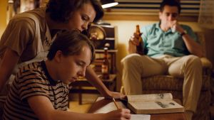 Carey Mulligan, Ed Oxenbould and Jake Gyllenhaal in Wildlife. Photograph: IFC Films